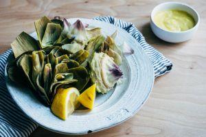 https://brooklynsupper.com/steamed-artichokes-with-roasted-garlic-aioli/  brooklynsupper.com