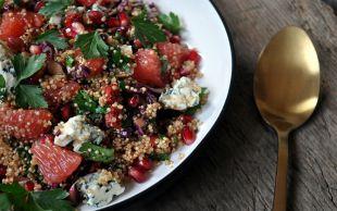 Greyfurt ve Nar Gücüyle: Kinoa Salatası