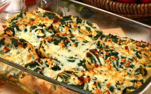 Kat Kat Ekmekler: Ispanaklı, Peynirli Strata