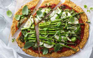 O Bir Glutensiz: Kuşkonmazlı Karnabahar Pizza