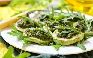 Lokmalık: Pesto Soslu Kabak Dilimleri
