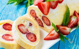 Sar Sarmala: Çilekli Rulo Pasta