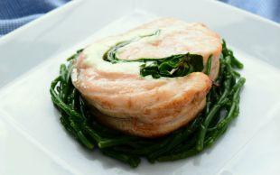 Sarıp Sarmaladık: Ispanaklı Krem Peynirli Somon Rulo