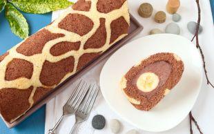 Aslında Çok Kolay: Zürafa Desenli Rulo Pasta