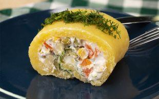 Dilimlemeye Kıyamazsın: Rulo Patates Salatası