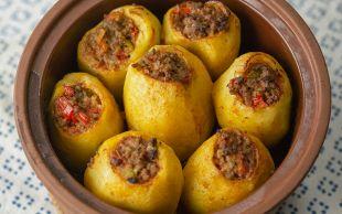 Biber Kıskandı: Kıymalı Patates Dolması