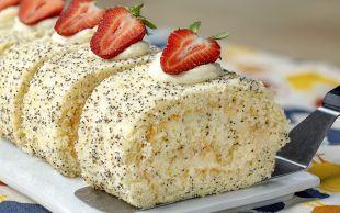 Yumuşacık Ve Ferah: Haşhaşlı Rulo Pasta