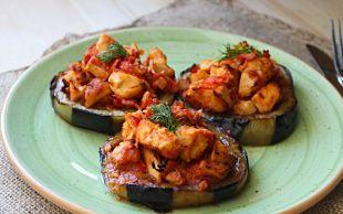 Hem de Porsiyonluk: Tavuklu Patlıcan Oturtma