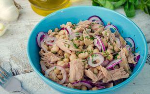 En Lezzetlisinden: Kuru Fasulyeli Ton Balık Salatası