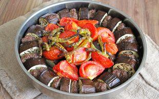 Hem de Çok Hafif: Patlıcanlı Tepsi Kebabı