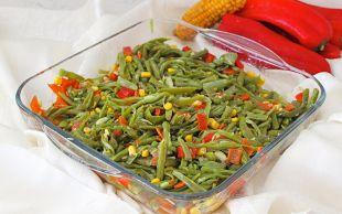 Yaz Ferahlığı: Köz Biberli Taze Fasulye Salatası