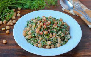Kaşık Kaşık Yemelik: Tahinli Nohut Salatası