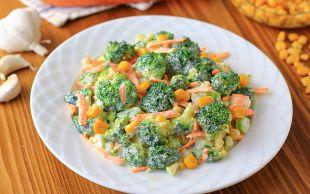 Yoğurtlu Sosuyla: Havuçlu Brokoli Salatası