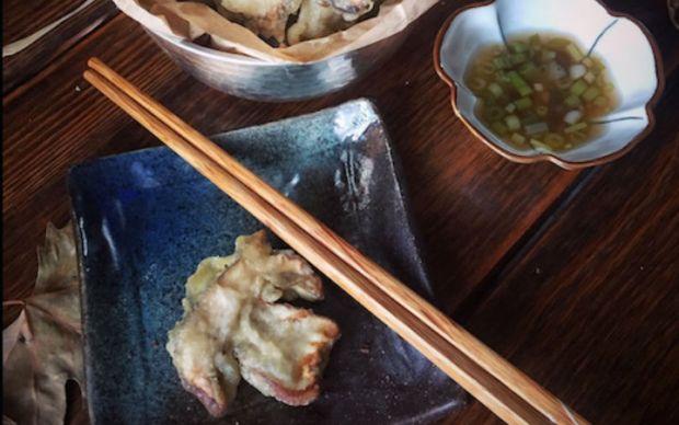porcini-tempura