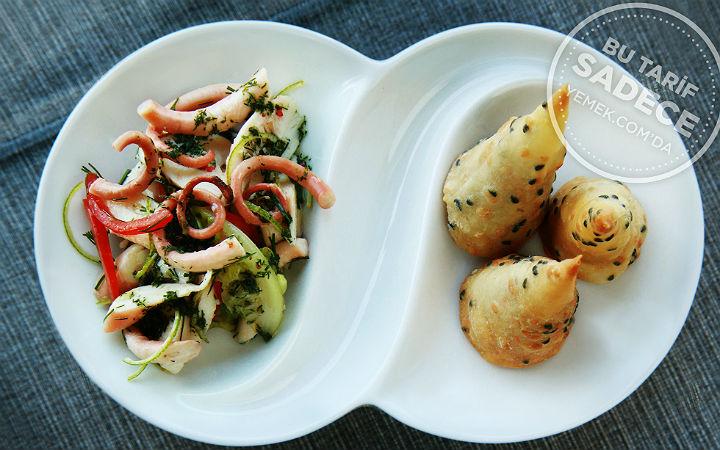 Ahtapot Salatası ve Tarhana Ezme Tarifi