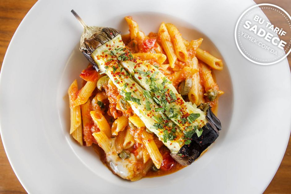 Penne Siciliano (Patlıcanlı Penne Makarna)