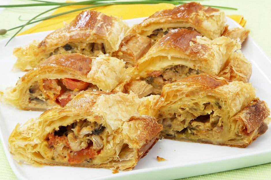 Tavuk ve pırasalı börek tarifi