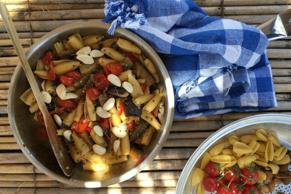Datça Usulü Patlıcanlı Makarna
