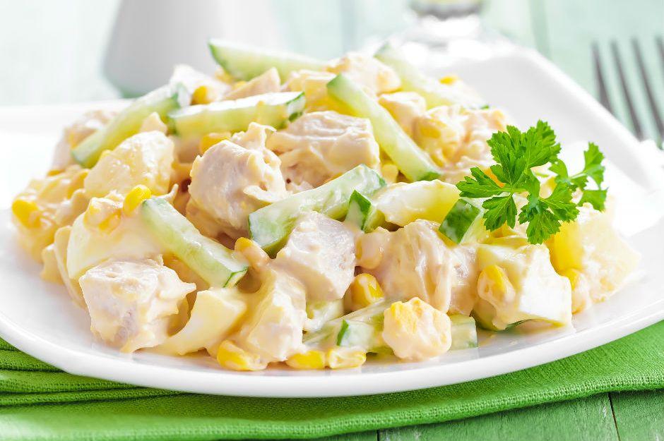 Рецепты салатов с курицей на скорую руку