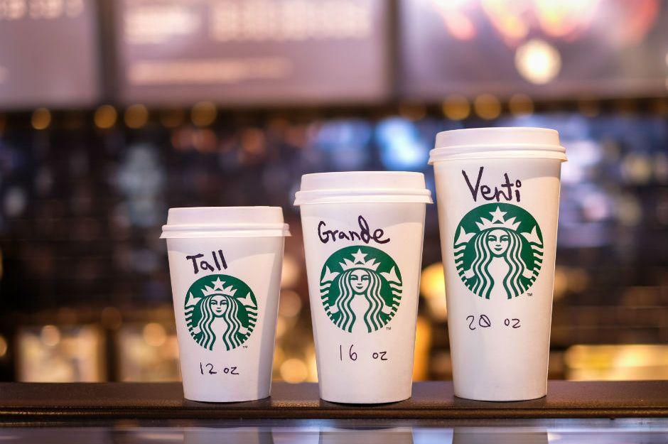 Starbucks ın Bardak İsimlerinin Tall Grande Ve Venti
