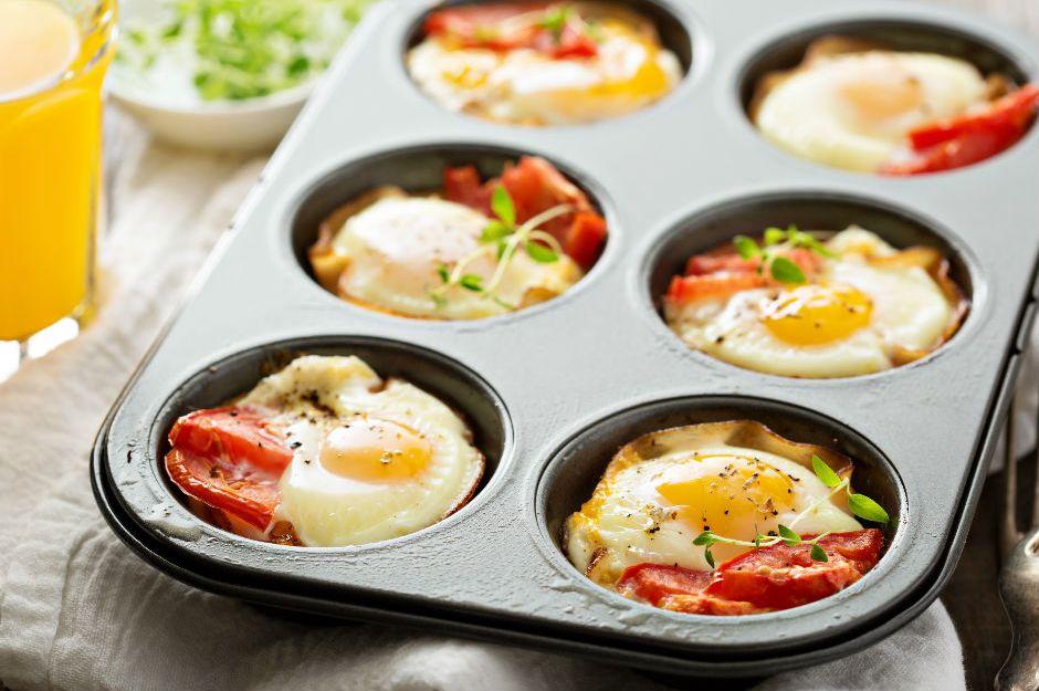 Muffin Kalıbında Yumurta