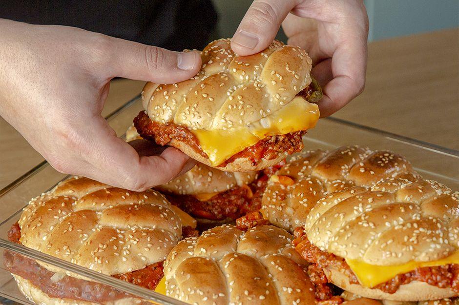 3 Kişilik Kıymadan 8 Kişilik Burger