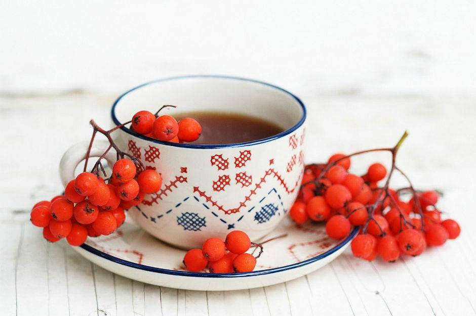 http://7-themes.com/6933228-tea-cup-rowan-berries-autumn.html | 7-themes