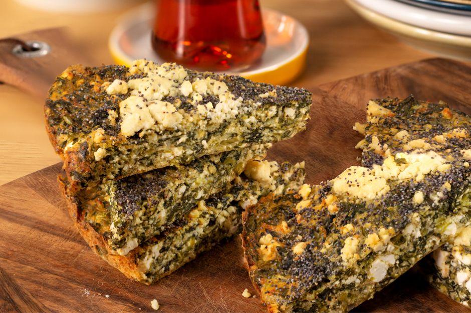 Yağsız Ispanaklı Börek
