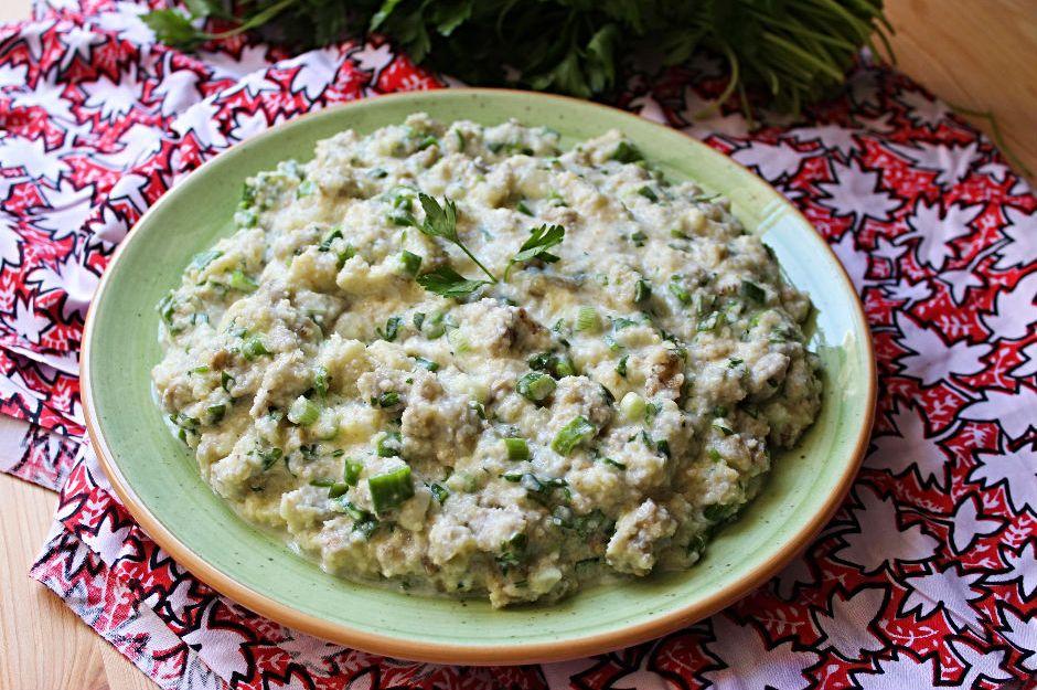 Patlıcanlı Bulgur Salatası