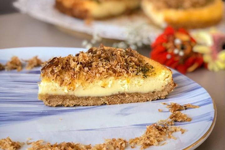 https://yemek.com/tarif/kadayifli-cheesecake/ | Kadayıflı Cheesecake Tarifi