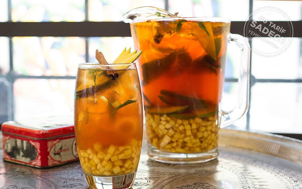 Ballı, Tarçınlı, Mangolu Buzlu Çay Tarifi