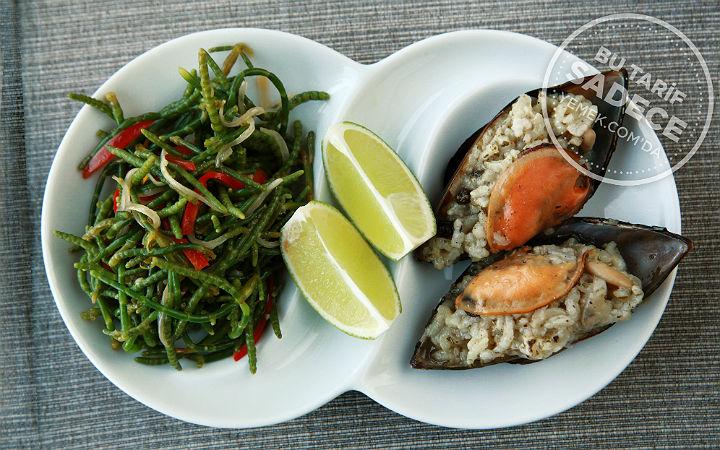 Fotoğraf Müjde Çarpraz / Tuti Restaurant Midye Dolma ve Börülce Salatası Tarifi