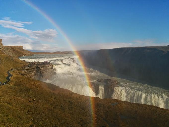 İzlanda Gulfoss Şelalesi