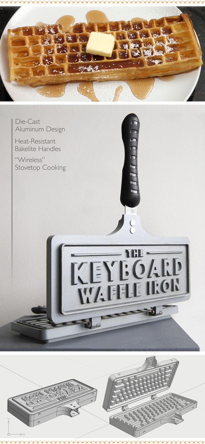 https://www.kickstarter.com/projects/1304060422/the-keyboard-waffle-iron | kickstarter - klavye şeklinde waffle makinesi