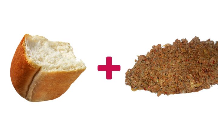 ekmek arası kıyma kavurma