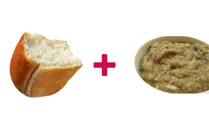ekmek arası köz patlıcan