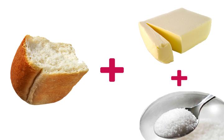 ekmek arası margarin şeker