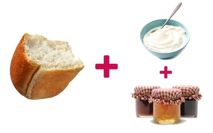 ekmek arası reçel yoğurt