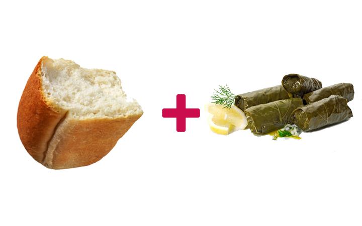 ekmek arası yaprak sarma