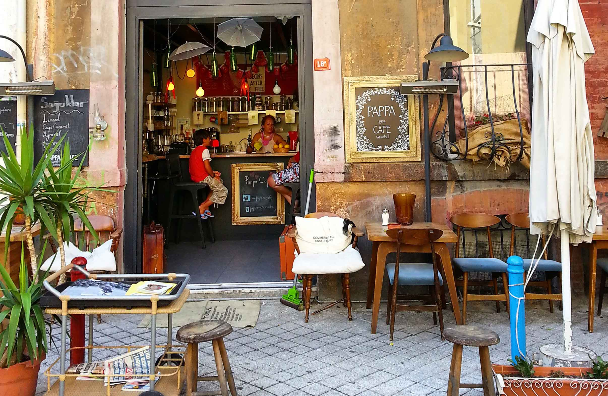 gezicigunluk - pappa cafe - freelance mekanları
