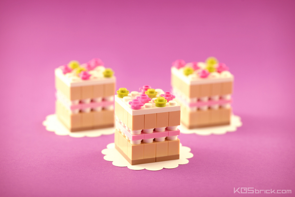 foodcember - lego çilekli pasta
