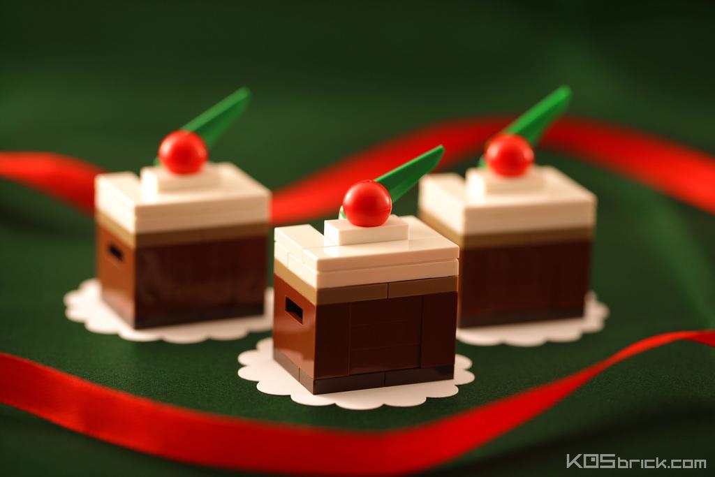 foodcember - lego mini çikolatalı pasta