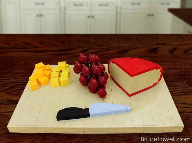 foodcember - lego şarap tabağı