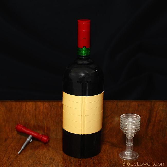 foodcember - lego şarap şişesi