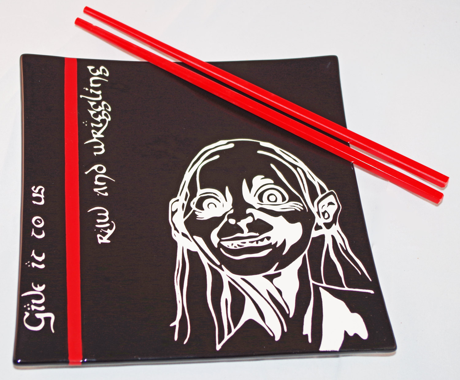 etsy - lord of the rings gollum sushi tabağı