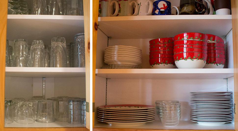 organize  - mutfak dolaplarının düzenlenmesi