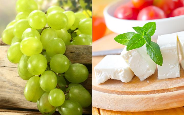 yesil-uzum- beyaz-peynir