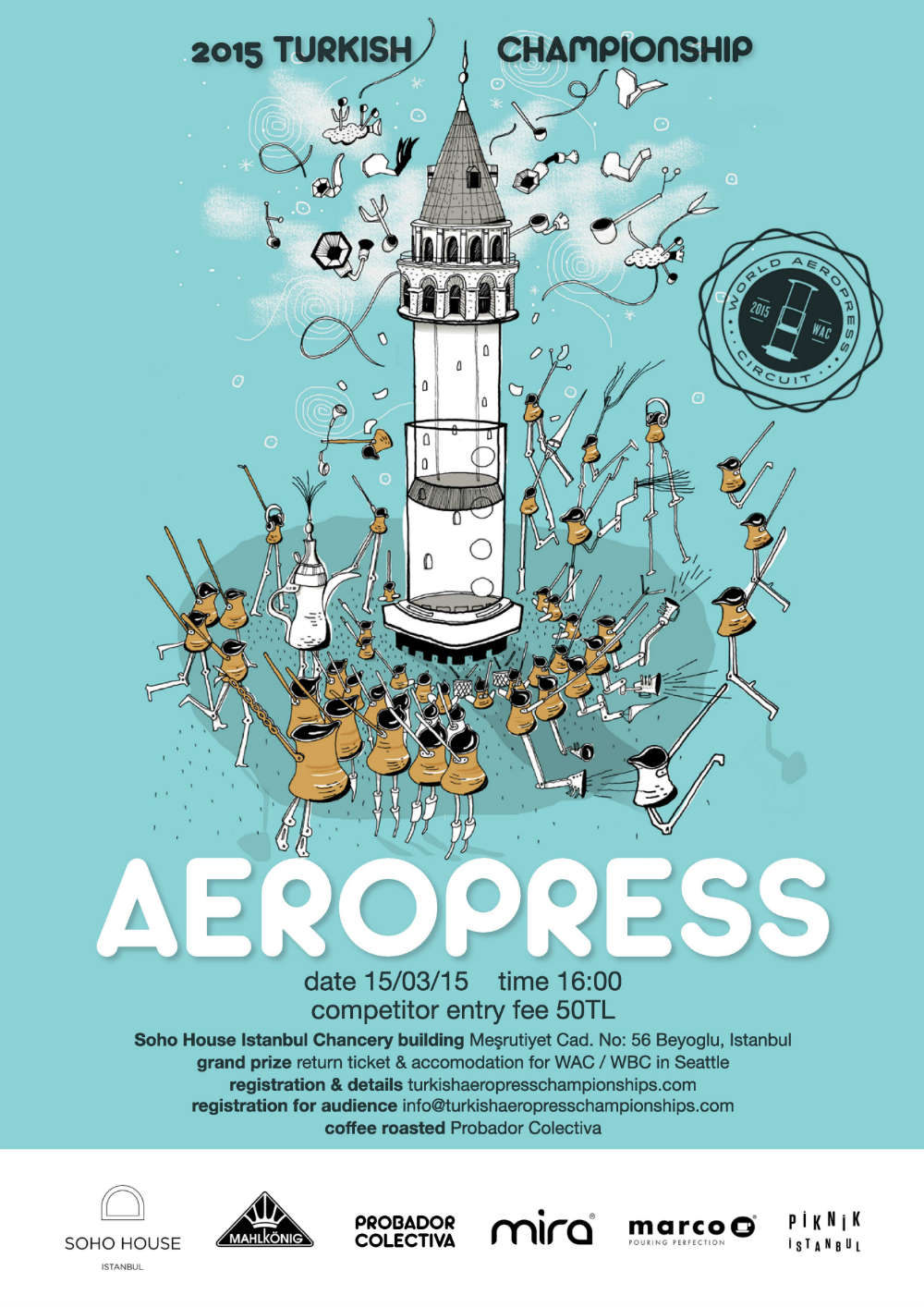 turkish aeropress yarisma poster