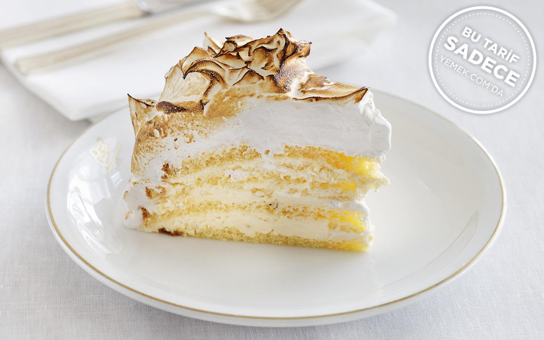 Vanilyalı Mereng Kaplı Pasta Tarifi