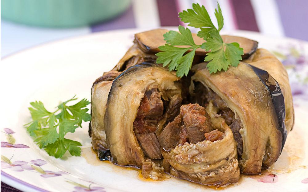 Etli Patlıcan Bohçası Tarifi